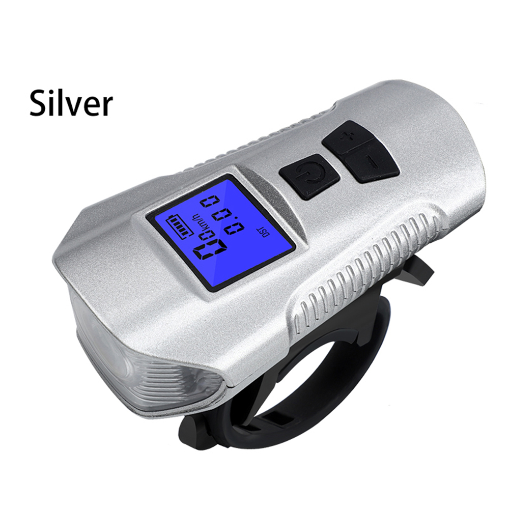 new Outdoor Multifunctional Bicycle Light USB Rechargeable Bike Computer With Electric Horn Bell Handlebar Cycling Headlight D30 in Novelty Lighting from Lights Lighting