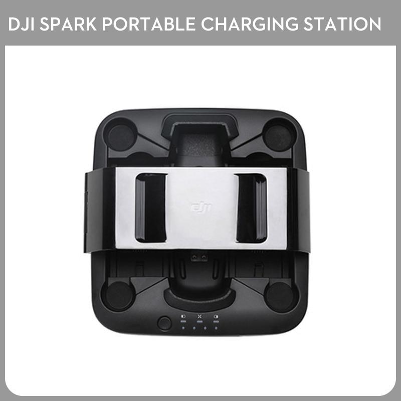 Original New DJI Spark Portable Charging Station Hub For Spark Drone & Battery dji spark battery charging hub drone charger charge part 7 black for intelligent flight battery original
