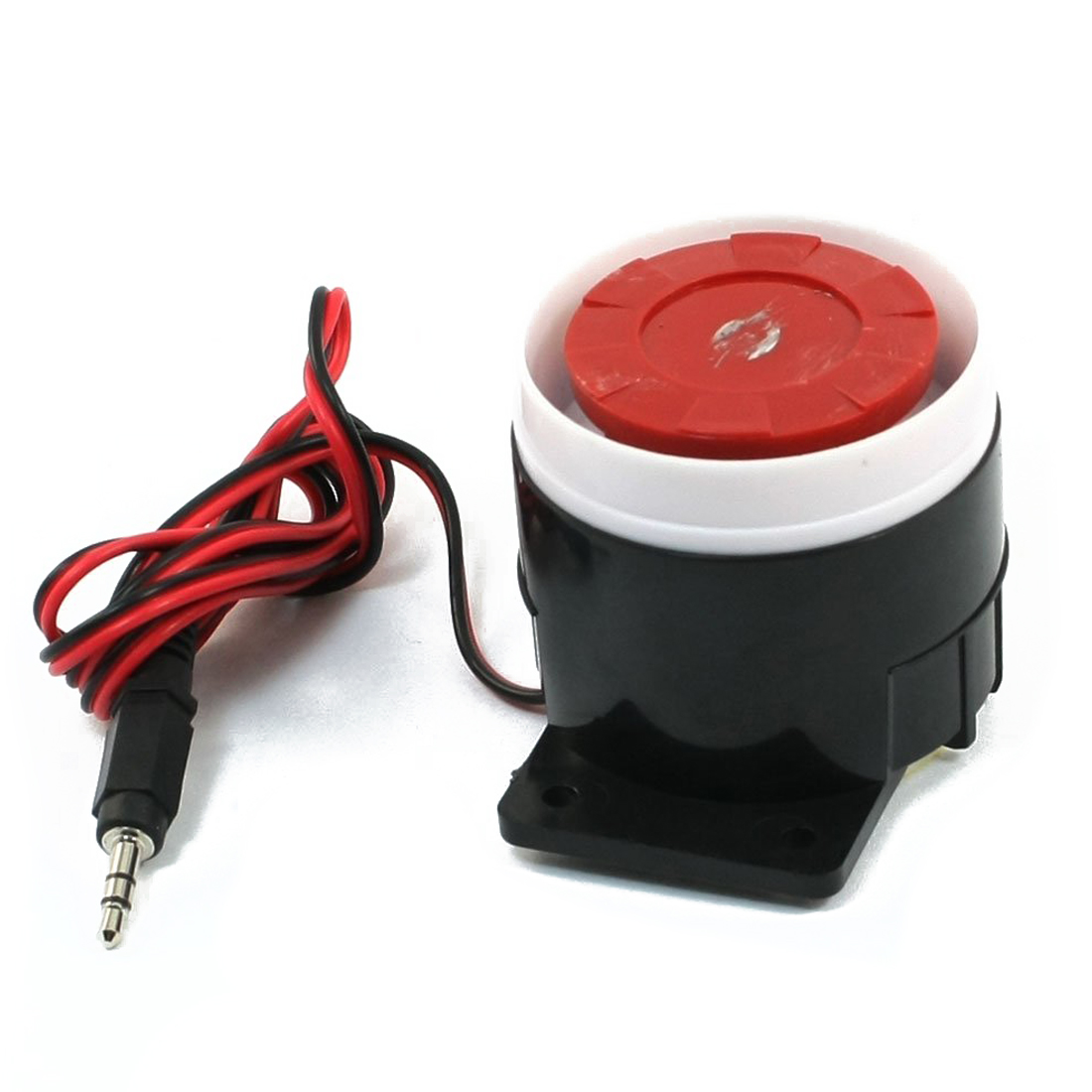TTKK Continuous Sound Decibel Piezo <font><b>Buzzer</b></font> IC Alarm Speaker DC 12V <font><b>120db</b></font> Black+Red image