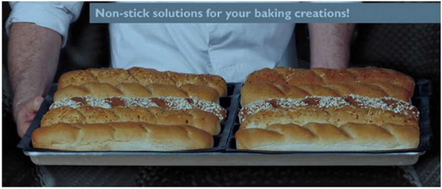 Silform Non Stick Silicone Bread Mat with 8 Molds Fiberglass French Bread Bakeware Baguette Baking Pan