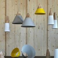 Nordic Post moderne Anhänger Lichter Holz + Aluminium Bunte Verbunden Kunst Originalität Lampenschirm Anhänger Lampe Suspension Leuchte|Pendelleuchten|Licht & Beleuchtung -