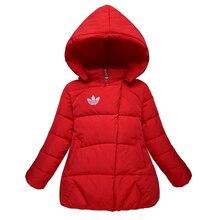 2016 новых девушек вниз пальто зимние детские куртки detacheable cap детская одежда короткая верхняя одежда девушки пальто