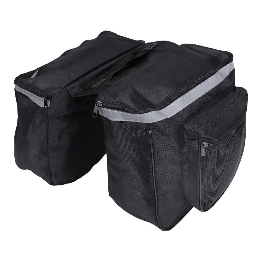 Bicycle Rear Seat Bag Waterproof Mountain Road Bicycle Bike Rack Rear Seat Tail Carrier Trunk Double Pannier Bag