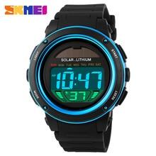 SKMEI Marca de relojes de Los Hombres Relojes Electrónicos de Los Deportes Al Aire Libre de la energía Solar Reloj Militar LED Digital Relojes de pulsera de Cuarzo Relogio masculino