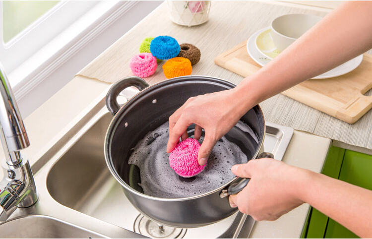 Marvelous Scouring Pads Microfiber Cleaning Ball Household Cleaning Tools Lovely Dish  Towel Kitchen Washing Tools Free Shipping Z 180 In Sponges U0026 Scouring Pads  From ...