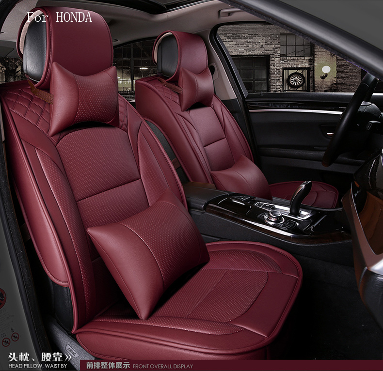 Waterproof Pu Leather Car Seat Cover For Honda Civic 2017 Crv Fit Accord Front Rear Full Universal In Automobiles Covers From