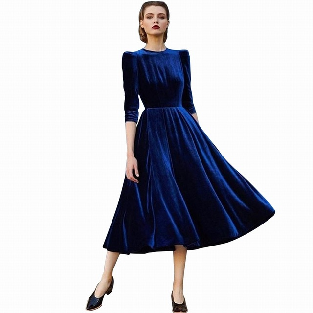 Blue Under Dresses for Spring 2018