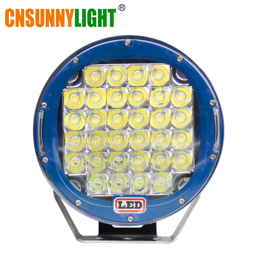 CNSUNNYLIGHT Guaranteed LED Work Light 9 inch 96W Spot Beam For 4x4 Offroad Boat Auto Wrangler Jk Truck Led Driving Lamp 12V 24V