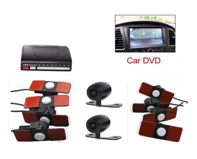 Car Video Dvd 13mm Flat Parking Sensor 8 Sensor 4 Rear 4