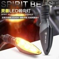 Spirit Beast 2pcs Lot Motorcycle Modified Turning Signals Light Super Bright Waterproof LED Steering Light