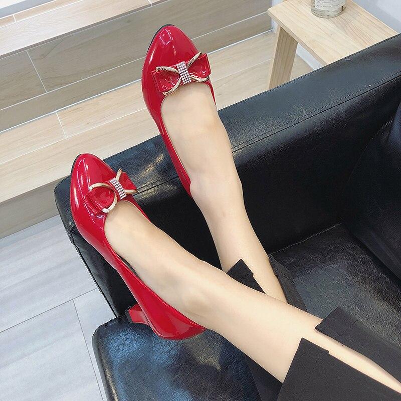 Petit Automne Travail Peu Simples Dames Et Femelle Sauvage Haute Taille Avec Noir Chaussures Bouche D'été Talon Profonde Arc Code Blanc WH1PWUOn