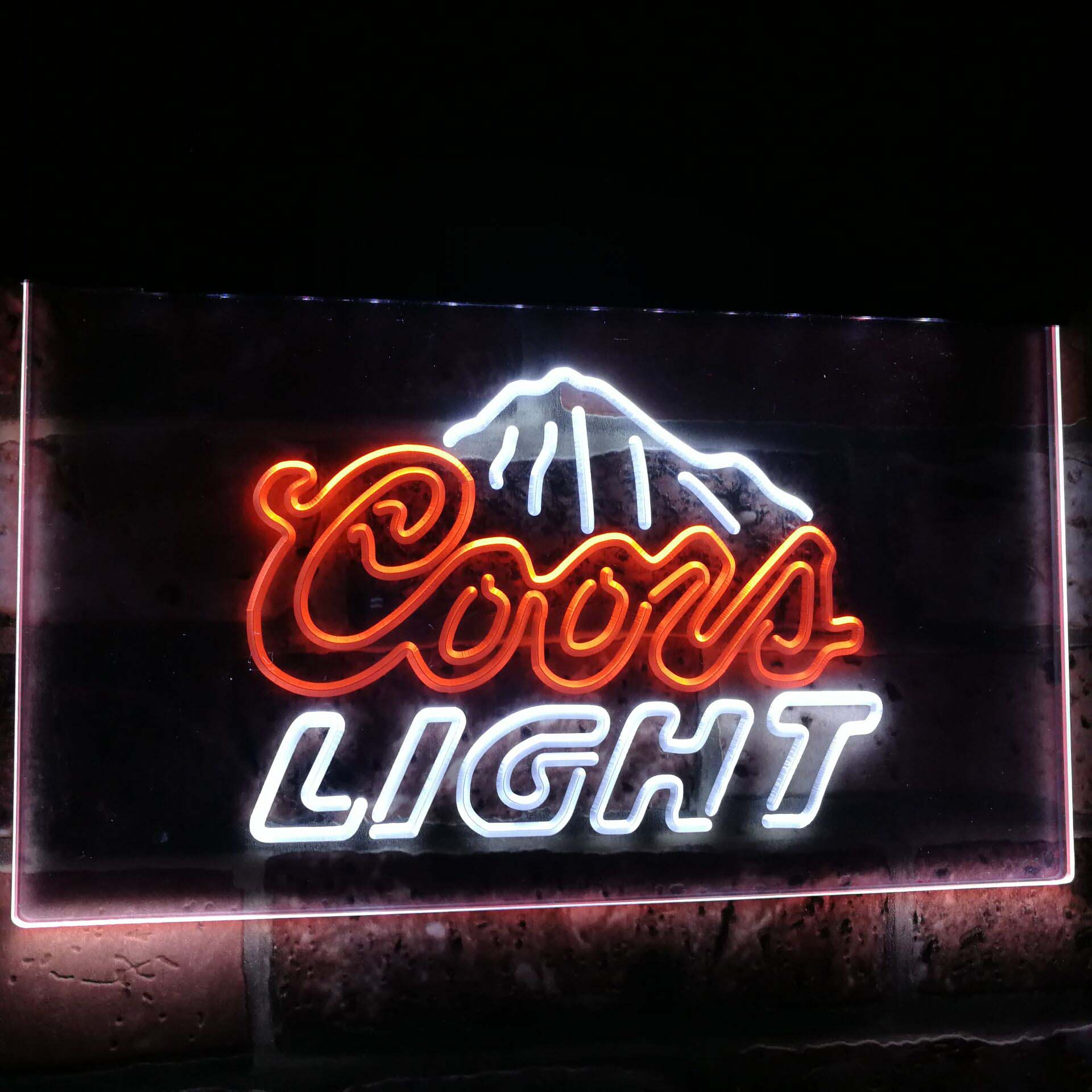 Coors Light Mountain Beer Bar Decoration Gift Dual Color