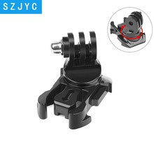 цена на 360 Degree Rotate Quick Release Buckle Vertical Surface Mount for GoPro Hero 7 6 5 4 Sjcam Sj4000 Xiaomi Yi 4K Eken Camera