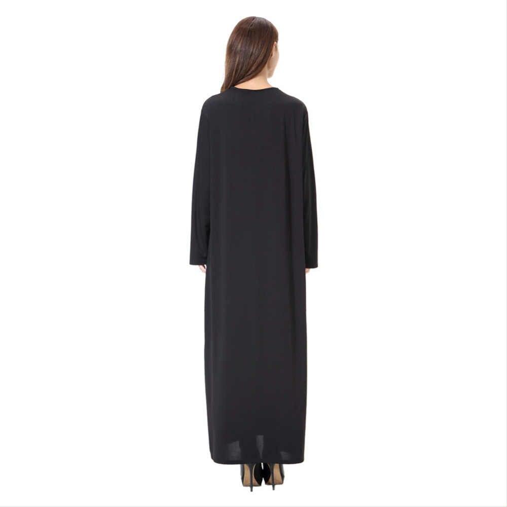 Abaya 이슬람 가운 드레스 맥시 jalabiya 이슬람 여성 일반 의류 가운 kaftan 간단한 스타일 v-칼라 코스프레 의상