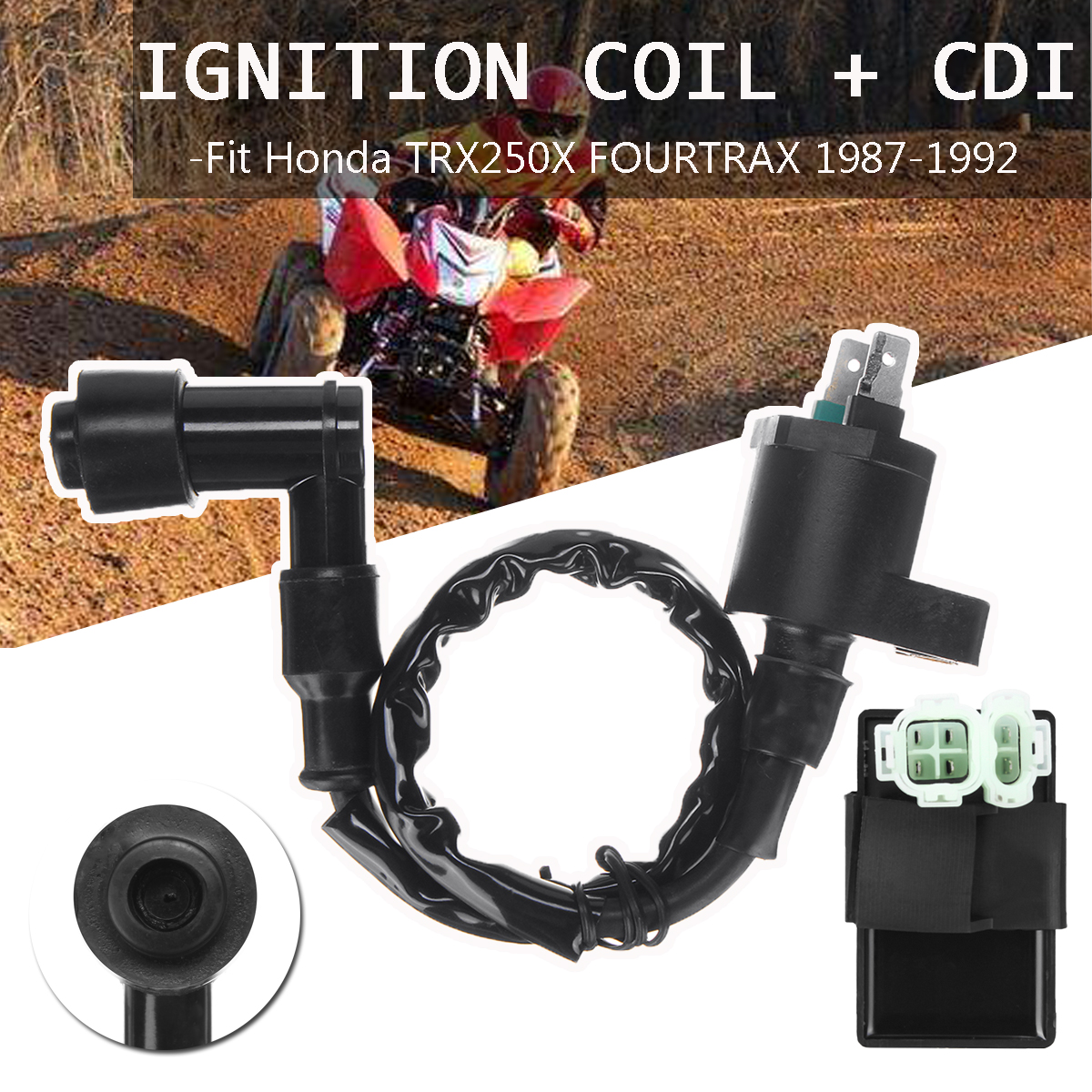 Hot Sale Automtive Ignition Coil Switch System Cdi Car Honda Trx 250 Wiring Connector Lock Barrel Plug Cable Wire For Trx250x Fourtrax 87 92atv