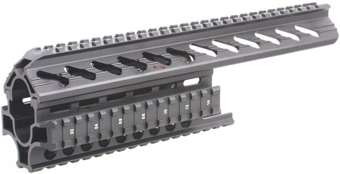 quad ferroviario picatinny sistema de montagem escopo