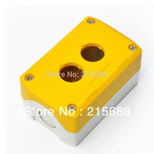2015 NEW Saipwell 106*68*54mm Bright color TWO GANG YELLOW TYPES HOT SELL ELECTRICAL PUSH BUTTON PANEL BOX SBX02