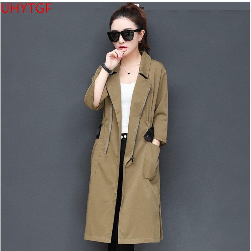 De Vêtements Casual Tranchée 2018 Corée 554 black Femmes Nouveau vent Kaki Mode Coupe Khaki Lâche Manteau Automne Pour Long brown vqwOxqtA