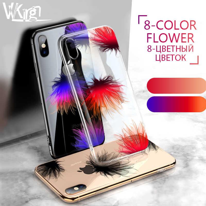 VVKing Роскошный чехол для iPhone X XS 8 7 6 6s плюс ультра тонкий, мягкий, из полиуретана Силиконовый чехол для iPhone X R Coque с рельефным цветочным орнаментом