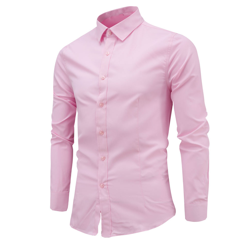 snowshine YLW Mens Fashion Slim Shirt Long Sleeve Casual Shirt free shipping
