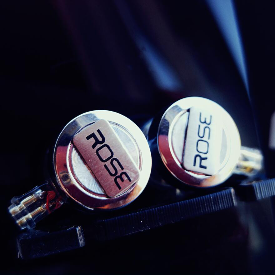 2017 Rose Mojito Flat Head Earphone Double Dynamic HIFI Monitor Audiophile Earbud Earphone Top Sound With TF 2-pin Interface