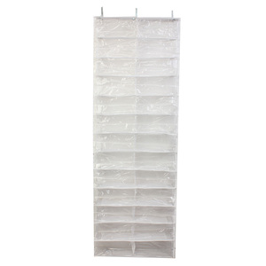 Image 2 - PHFU 26 Pairs Over Door Hanging Stand Shoe Rack Shelf Storage Organiser Pocket Holder Creamy white