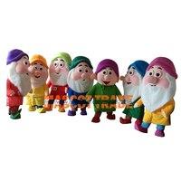 Семь Цвет Рождество старик Маскоты мультфильм костюмы для Хэллоуина вечерние события