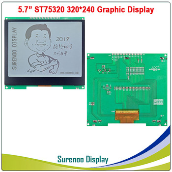 """5.7"""" 320X240 320240 Graphic LCD Module Display Panel Screen LCM with ST75320 Controller Gray LCD, Support Serial SPI"""