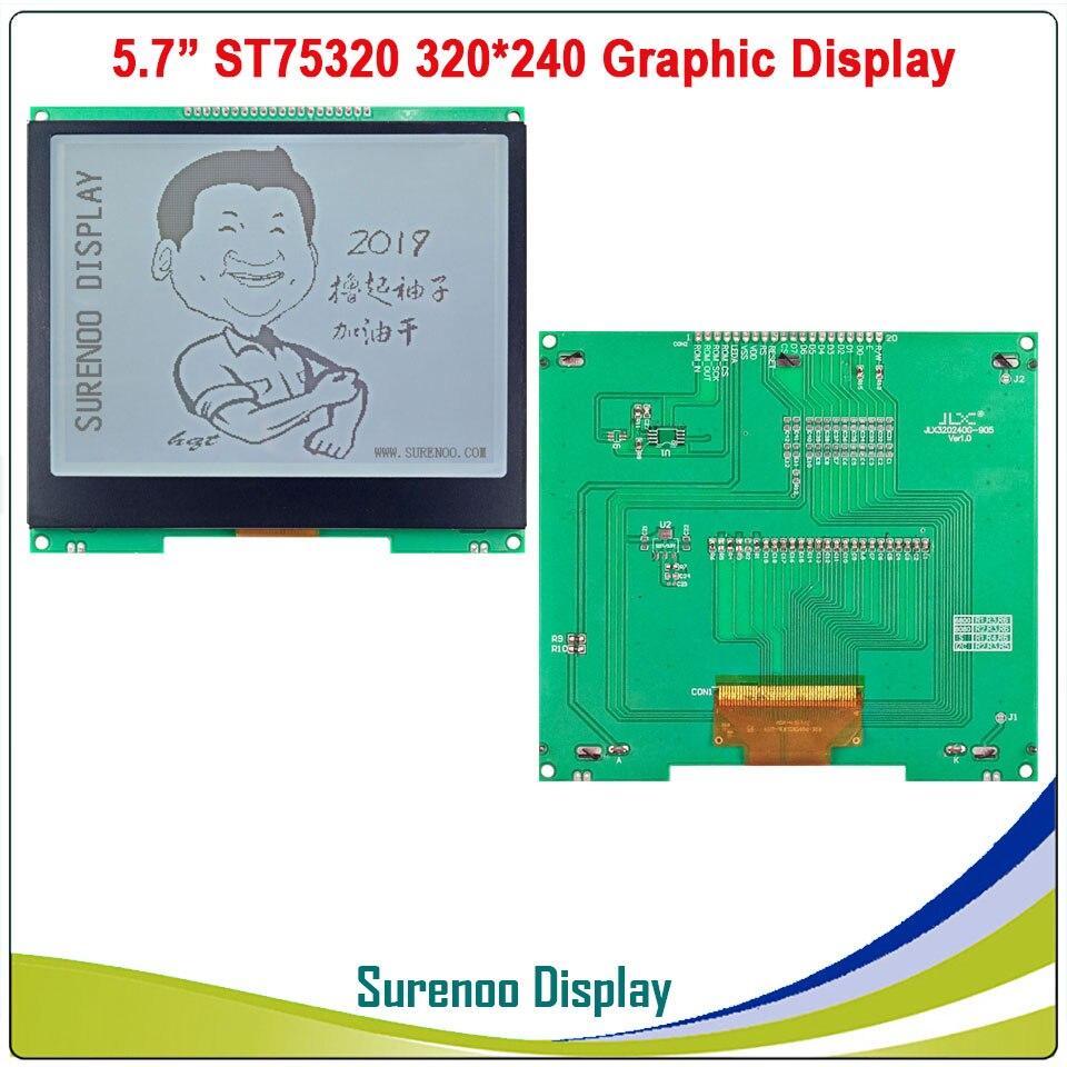 5,7 320X240 320240 Графический ЖК модуль дисплей панель экран LCM с ST75320 контроллер Серый ЖК дисплей, поддержка последовательного SPI