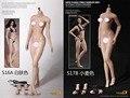Phicen PLMB2016-S16A/PLMB2016-S17B feminino super flexível sem costura corpo pálido/bronzeador médio peito (sem-cabeça sculpt versão)