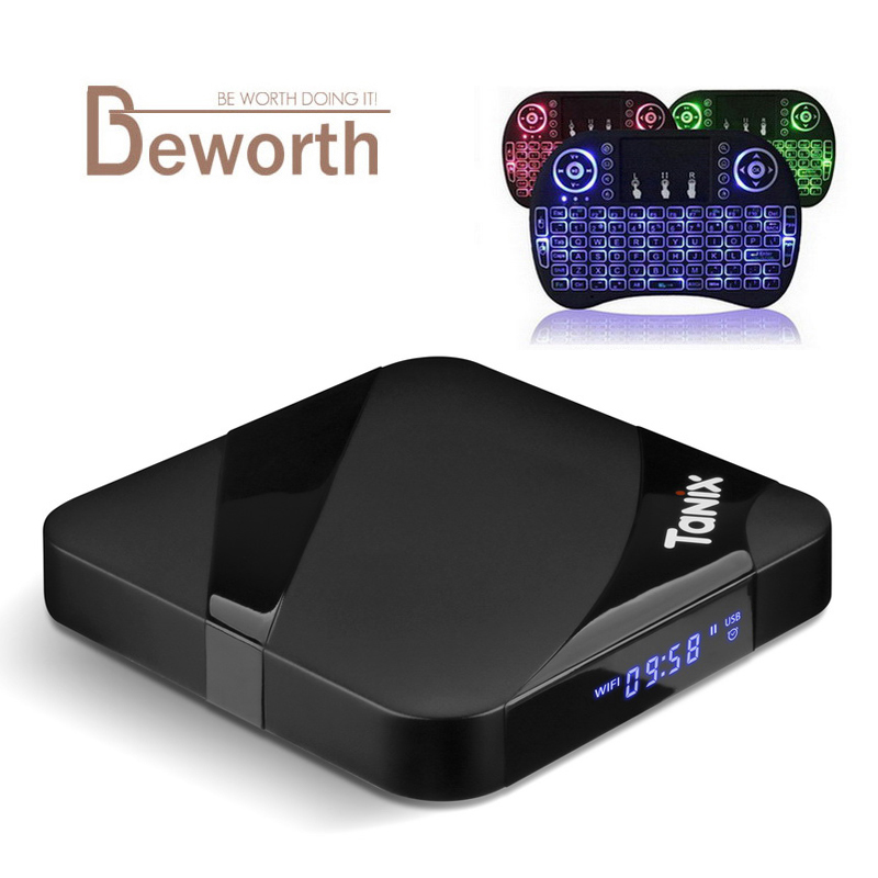 Tanix TX3 Max TV Box Android 7.1 Amlogic S905W con il Nuovo ALICE UX 2 gb 16 gb Set Top Box 2.4g Wifi BT4.1 Smart Media Player X96mini