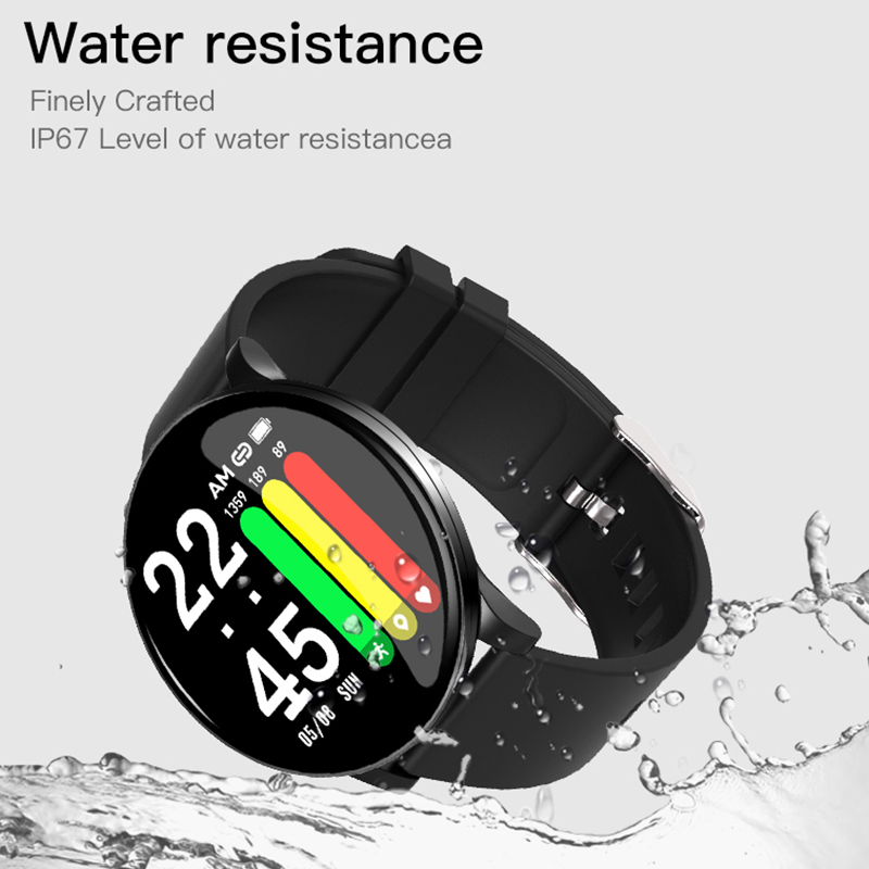 torntisc unisex smart watch and fitness bracelet with heart rate monitor weather forecast blood oxygen pressure monitor