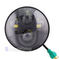 Harley 5.75 inch LED Headlamp 5 3/4 inch LED For Harley Iron 883 Dyna Street Bob FXDB Sportsters Headlight Kit