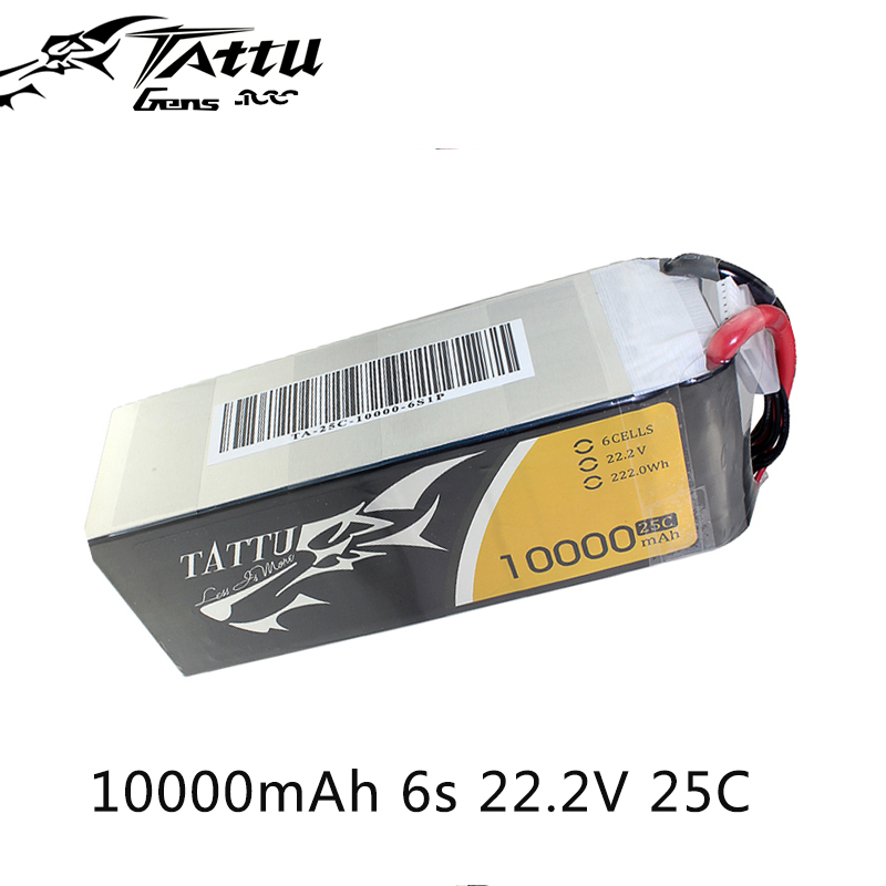 Tattu Lipo Battery 6S 10000mAh Lipo 22.2V 25C UAV Drone Battery for Quadcopter Frame FPV Drone Chargeable Battery image