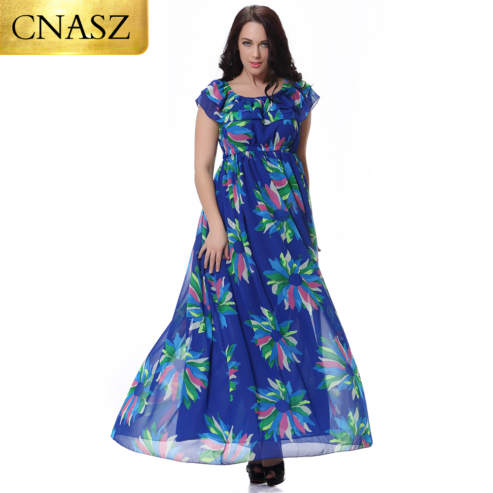 US $23.03 36% OFF|Plus Size Summer Chiffon Beach Dress For Women Maxi  Empire Straight bohemian Clothes-in Dresses from Women\'s Clothing on  AliExpress ...