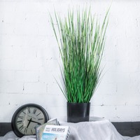 Greenery Fake Grass Plant Ornament New Artificial Green Bamboo Grass Plant for Home Garden Party Wedding Deocration