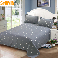 סדינים למיטה שטוחים 100% פוליאסטר הדפסת סט סדין מיטת כיסוי מיטה עם שתי ציפות 41 צבעים לאפשרות 160*230 ס