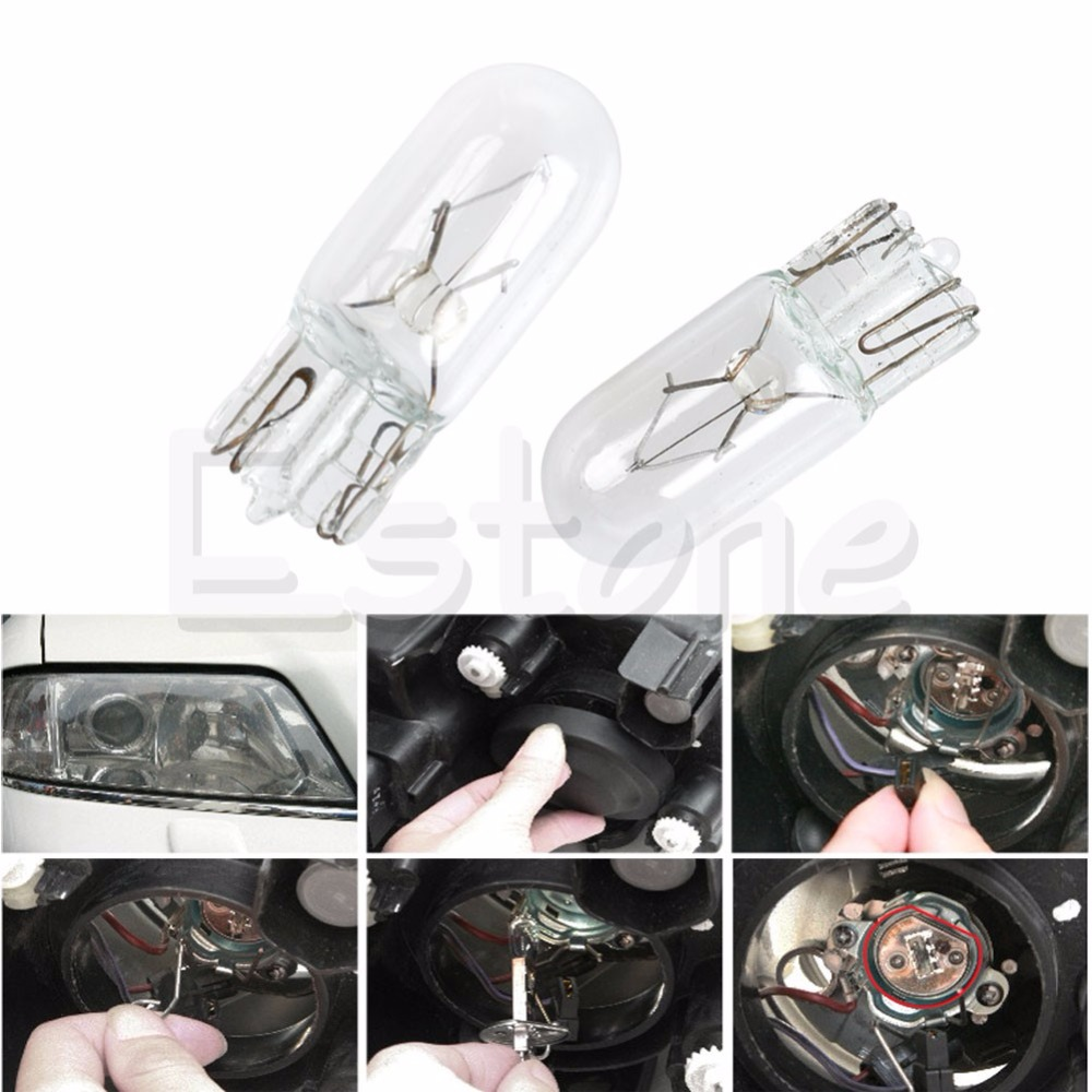 1PC T10 W5W 5W Halogen Bulb Signal Interior Car Cool White light Lamp прогулочная коляска cool baby kdd 6699gb t fuchsia light grey