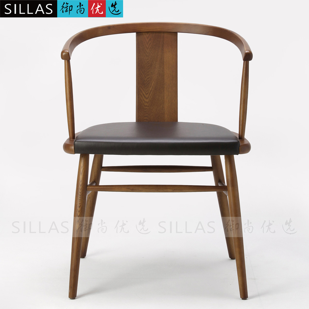 Delicieux Solid Wood Chair Modern Chinese New Chinese Ming Chair Leisure Furniture  Restaurant Hotel Continental Scandinavian Armchair In Restaurant Chairs  From ...
