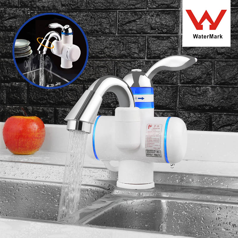 Instant Electric Water Heater Kitchen Basin Faucet Tankless Waterproof Hot And Cold Bathroom Mixer Water Taps Single Handle 220V
