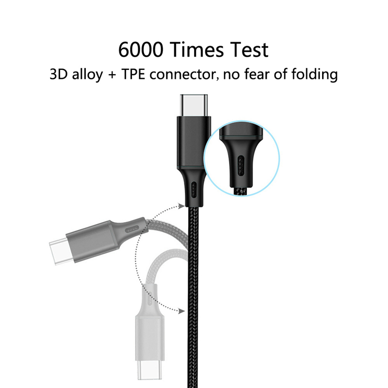 High quality Nylon Braided Type C Data Cable Fast Charge Stable Data Transmission Charging Cable for Samsung Xiaomi in Data Cables from Consumer Electronics