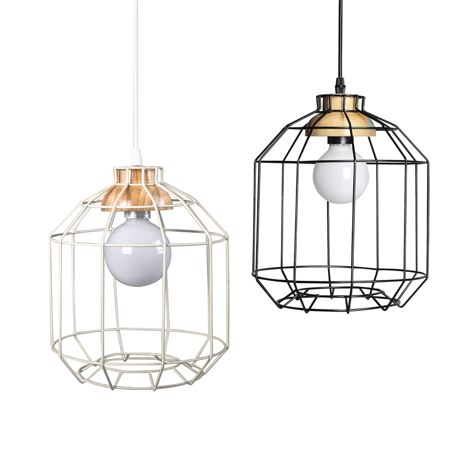 Vintage Bird Cage Black Iron Pendant Lights E27 Industrial Loft Lamps Bar Decoration Lighting Fixtures Free Shipping free shipping vintage industrial clear glass metal cage pendant lights lamps dining room ceiling fixtures lighting