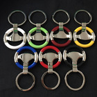10pcs/lot Steering Wheel Racing Professional Zinc Alloy Metal Car Auto Keychain Keyring Key Chain Ring Keyfob Finder Bag Pendent
