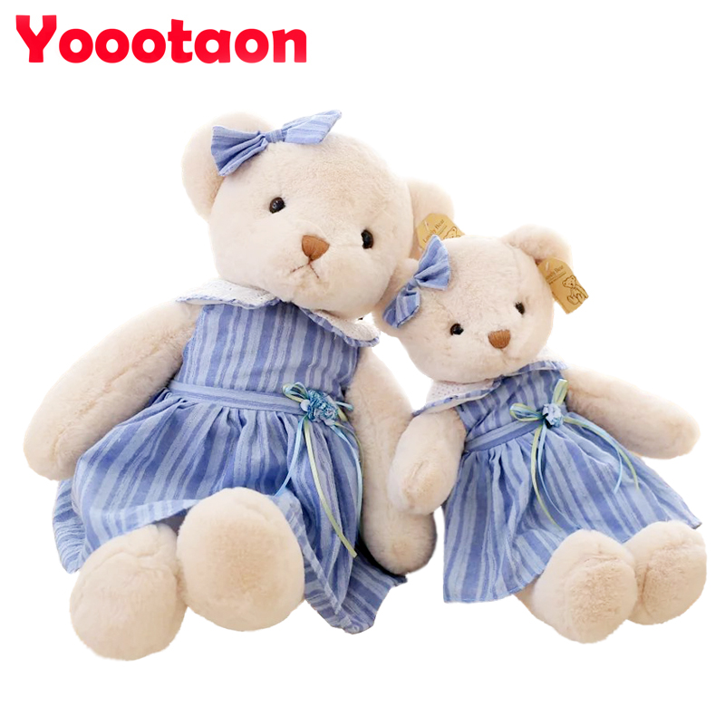 45cm Kawaii Teddy bear wear a skirt Plush toys High quality kids stuffed dolls for girls birthday gifts vs metoo doll high quality hand made chinese costume dolls bailu beauty doll 12 jointed bjd 1 6 dolls toys girl birthday gifts collection