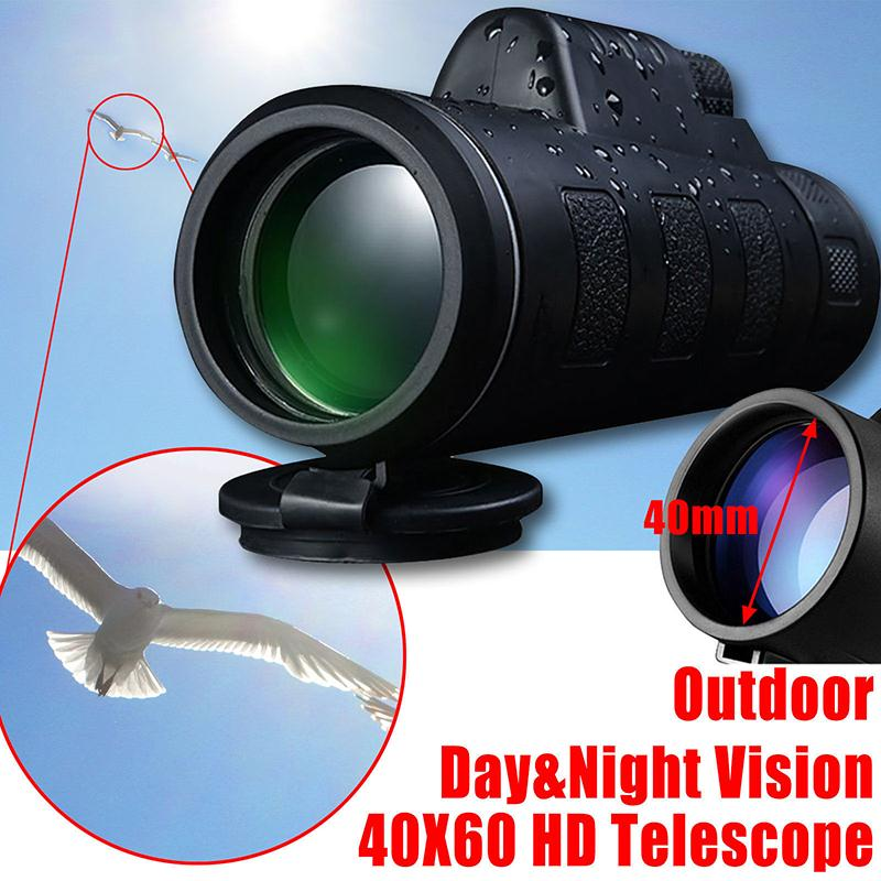 40X60 Monocular Telescope HD Night Vision Prism Scope for Hunting Camping Fishing Outdoor Sports Optical Monocular Telescope