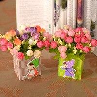 vase/ Spring flower pen suit Mei small daisy chrysanthemum rose lover Cuihua Diamond Rose suit artificial flowers cheap