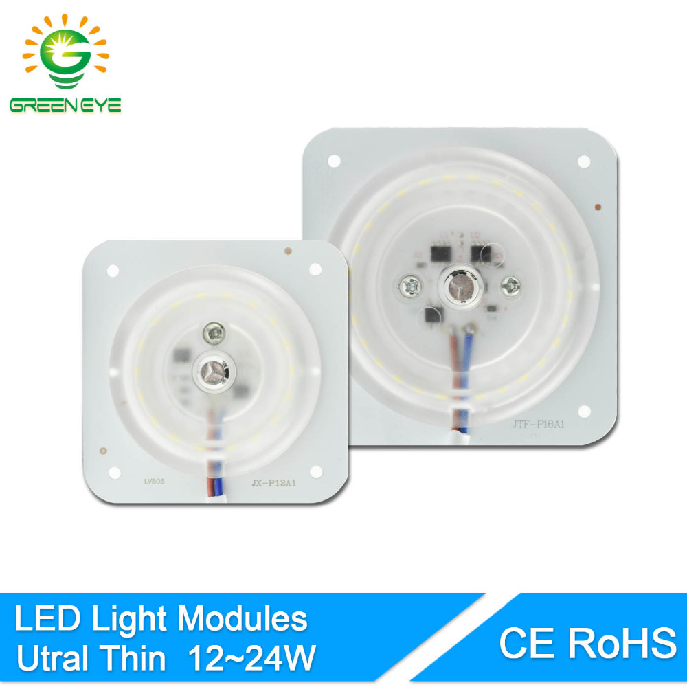 GreenEye Mini Led Module 12W 18W 24W For Ceiling Lamp Downlight Replace Accessory Magnetic Light Source Light Board Bulb 220V
