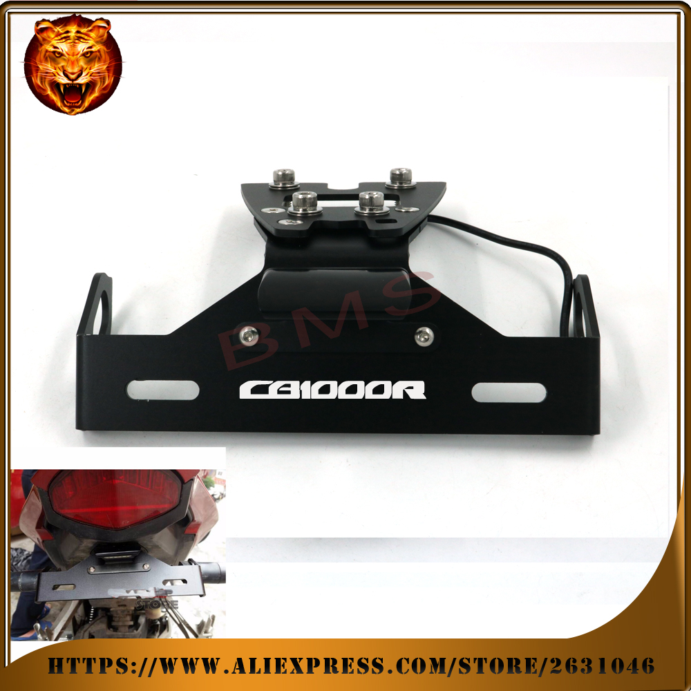 Motorcycle Tail Tidy Fender Eliminator Registration License Plate Holder LED Light For HONDA CB1000R cb1000 2010 2011 2014 2015 motorcycle fender eliminator rear tail tidy holder license plate license bracket 2013 2014 2015 2016 for honda cbr600rr f5