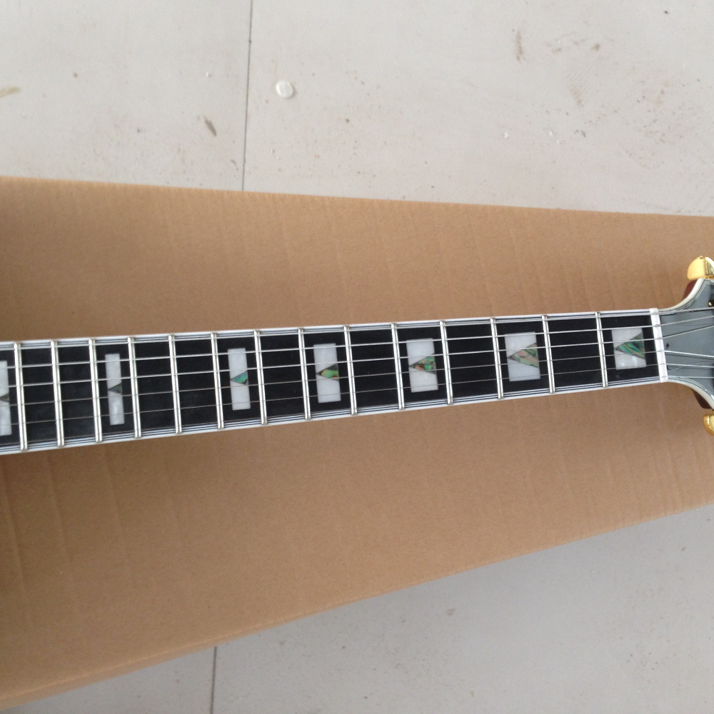 G-USA simi hollow body ES -335 electric guitar ,qulited maple top and back side ,ebony fingerbord