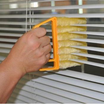 Przydatna szczotka do czyszczenia okien z mikrofibry klimatyzator miotełka Cleaner Tools szczotka do okien szczotka narzędzie do czyszczenia tanie i dobre opinie Strongwell Mini-Blind Cleaner Air condition cleaner Ekologiczne Zaopatrzony Okno Mikrofibra Ręcznie